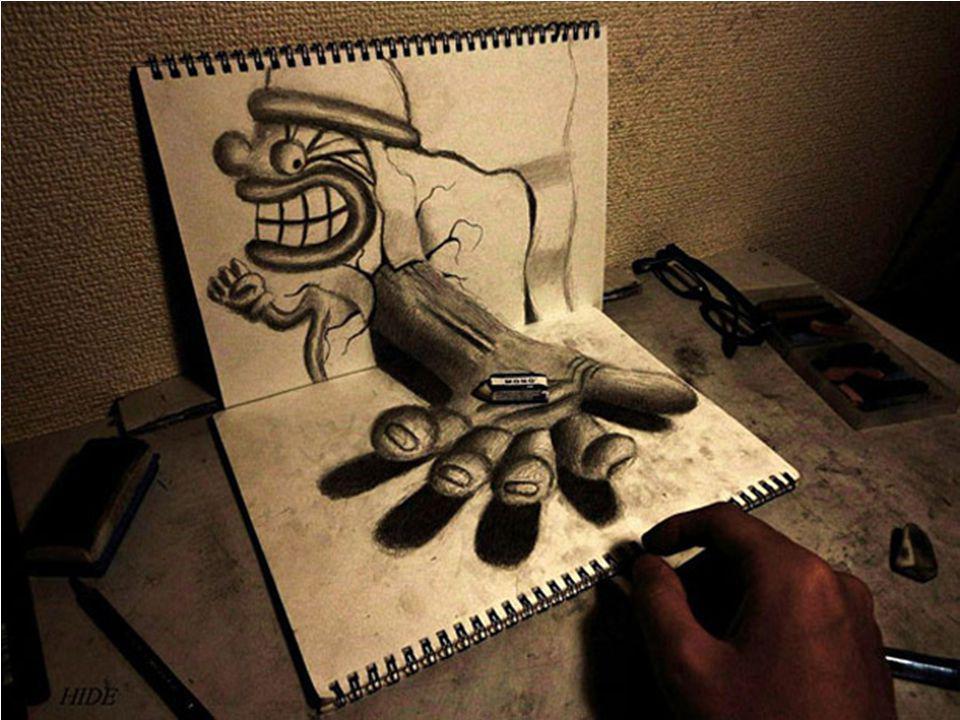 Agé seulement de 21 ans, ce virtuose du crayon imagine des personnages sortis tout droit de son imagination et les dessine sur des feuilles en leur do