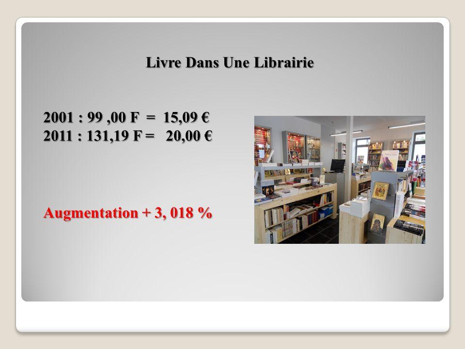 Magazine Le Point 2001 : 18,00 F = ( 2,74 ) 2011 : 22,96 F = ( 3,50 ) Augmentation + 9,59¨%