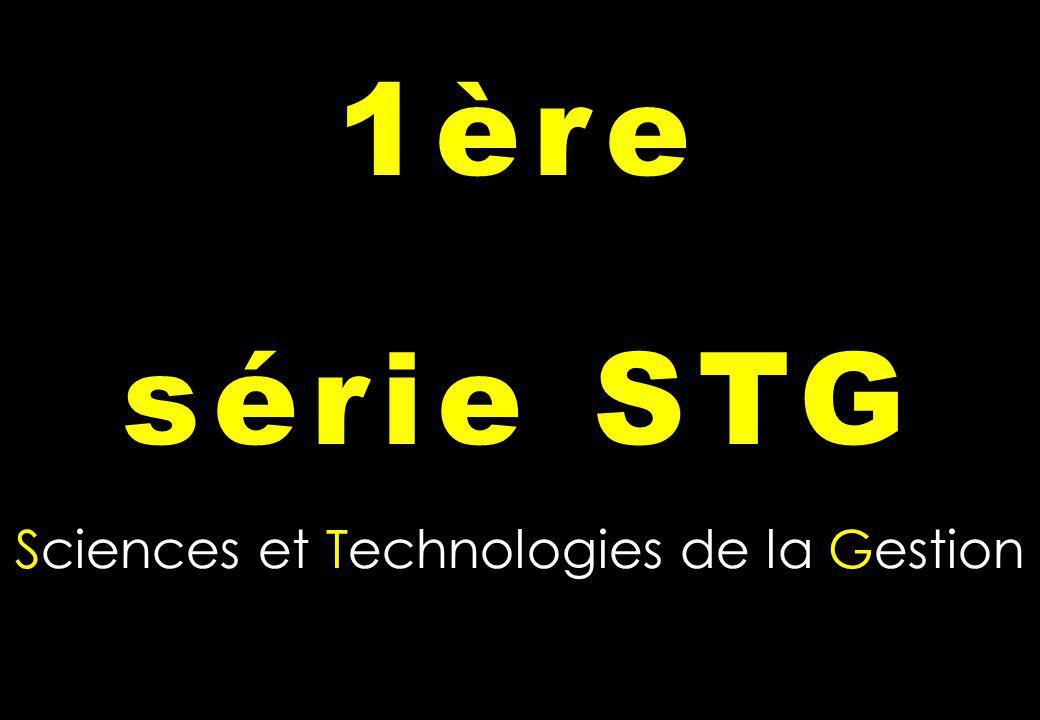 Sciences et Technologies de la Gestion 1ère série STG