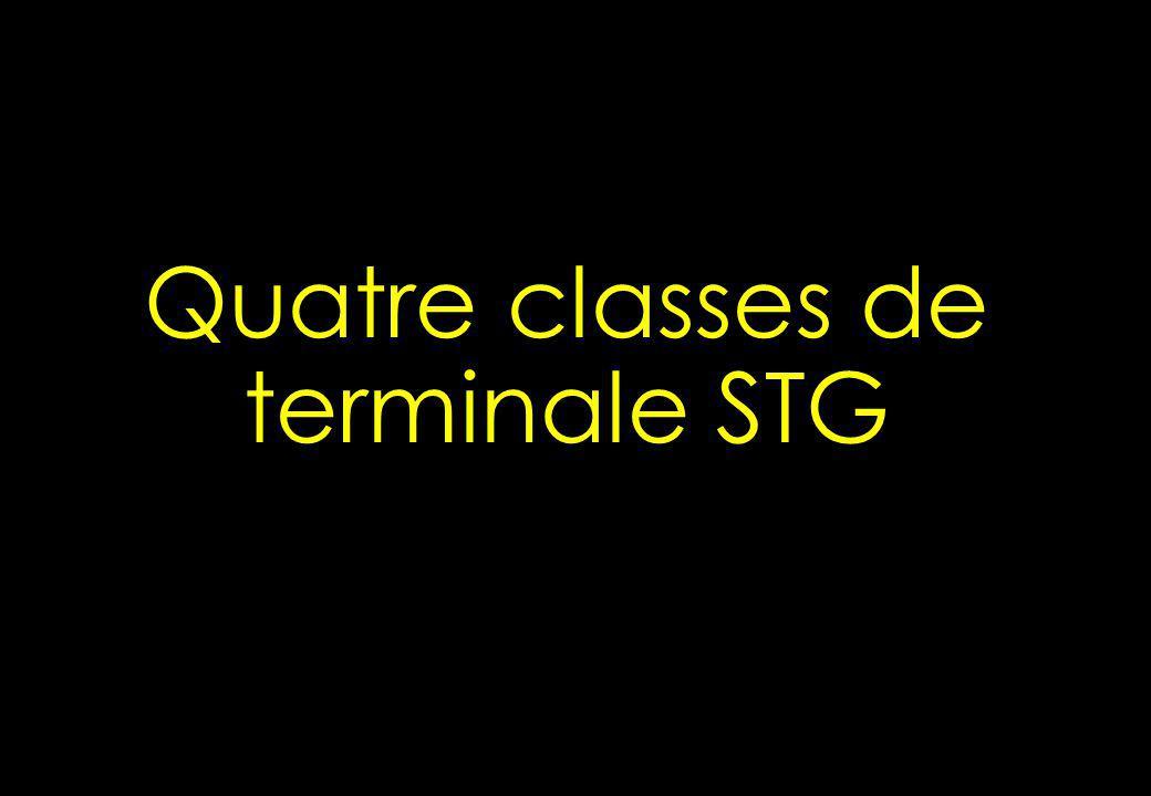 Quatre classes de terminale STG