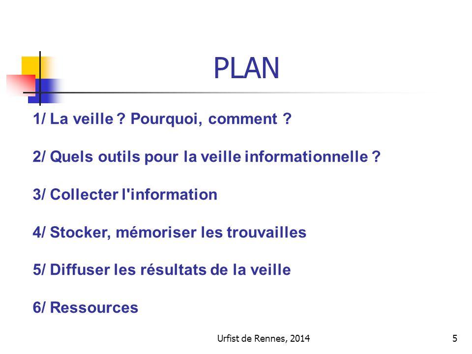 5 PLAN 1/ La veille . Pourquoi, comment . 2/ Quels outils pour la veille informationnelle .