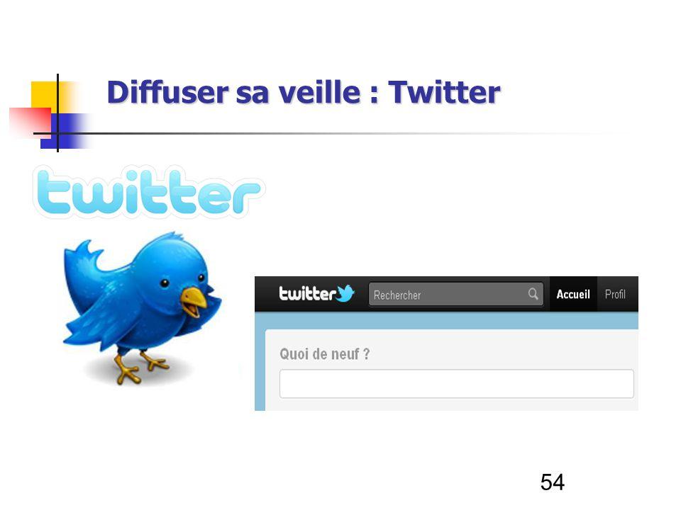 54 Diffuser sa veille : Twitter