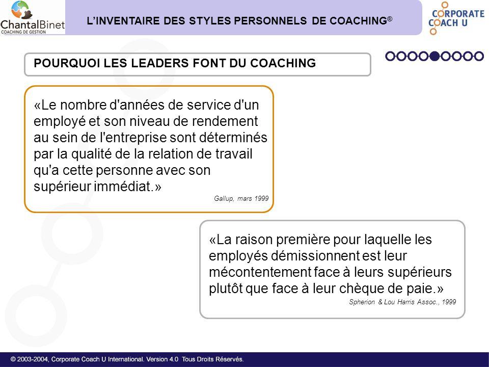 1.Quels sont les impacts de vos styles dominant et secondaire sur le style dominant de vos employés.