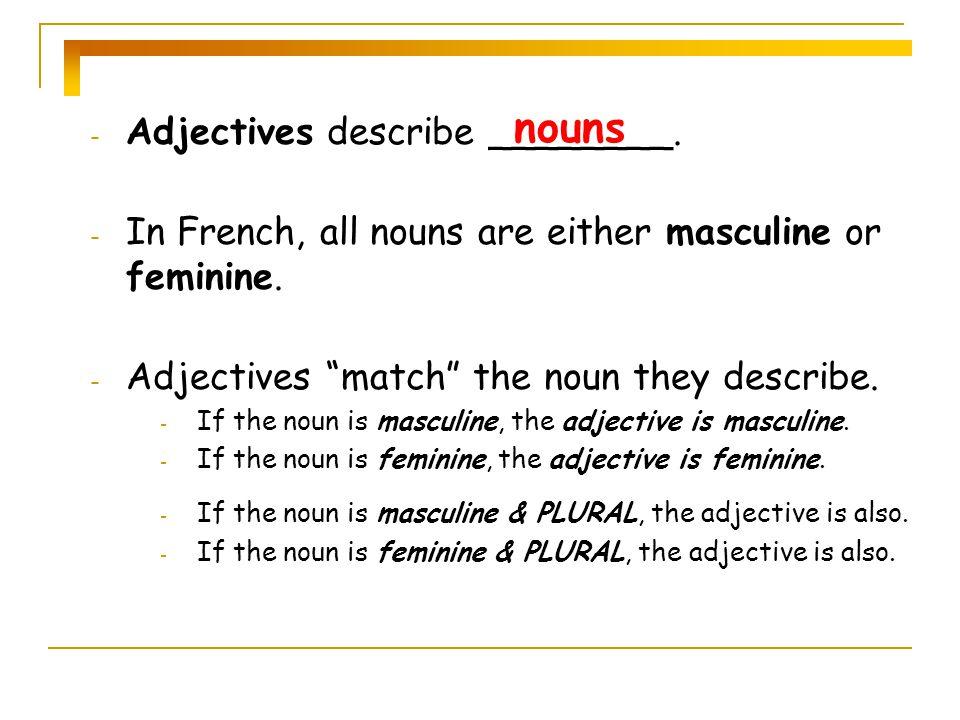 méchant (e) sympathique Some adjectives…