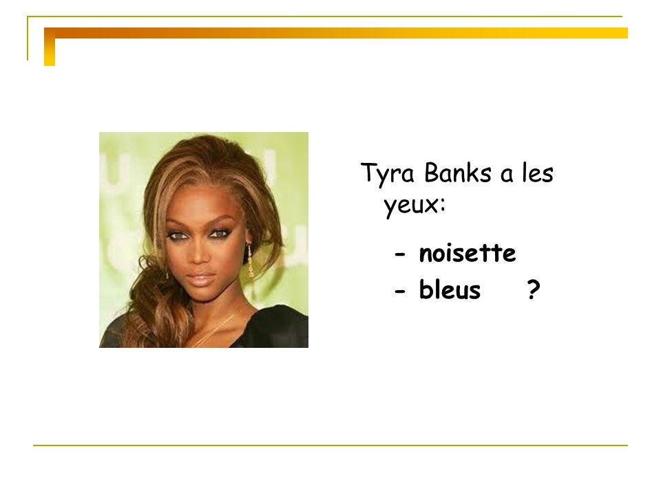 Tyra Banks a les yeux: - noisette - bleus ?