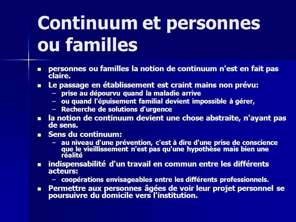 Continuum et personnes ou familles personnes ou familles la notion de continuum n est en fait pas claire.