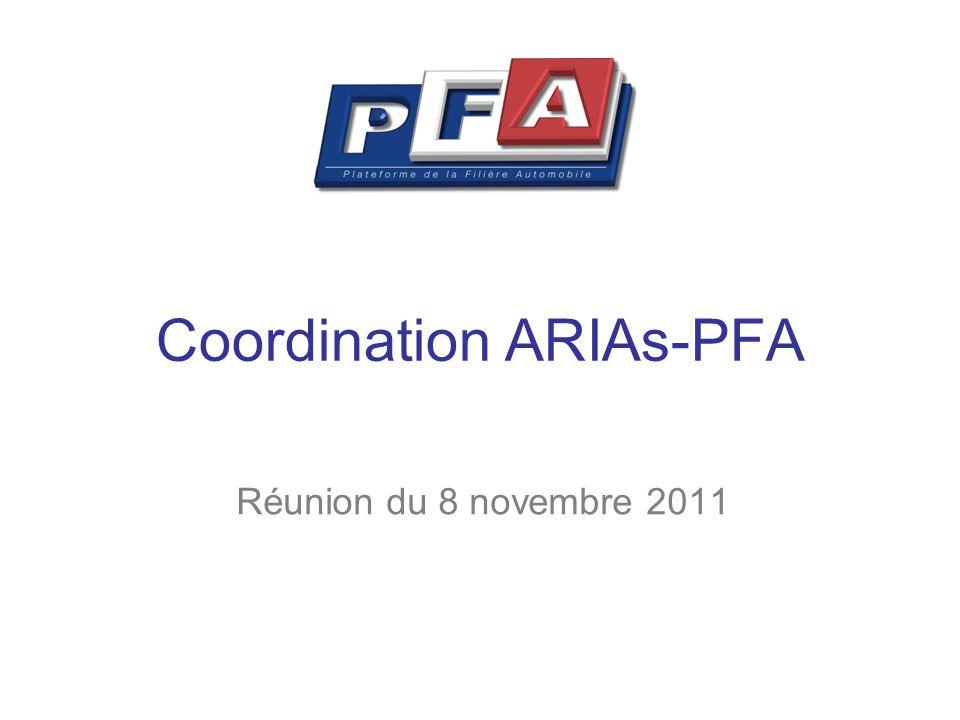 Coordination ARIAs-PFA Réunion du 8 novembre 2011