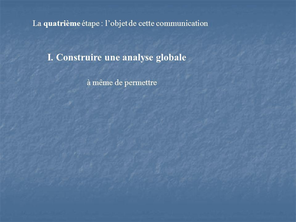 La quatrième étape : lobjet de cette communication à même de permettre I.