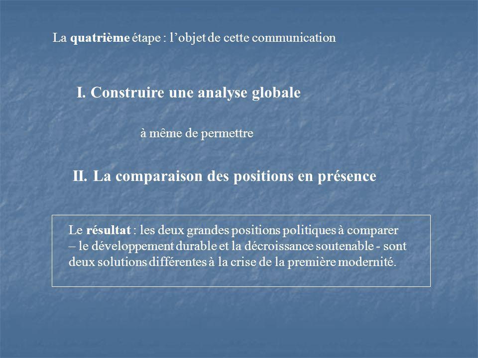 La quatrième étape : lobjet de cette communication à même de permettre II.