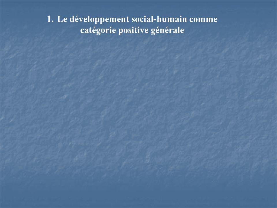 1.Le développement social-humain comme catégorie positive générale