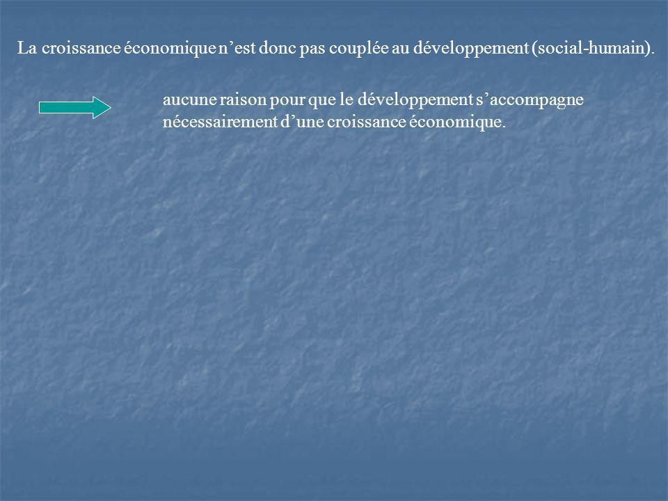 aucune raison pour que le développement saccompagne nécessairement dune croissance économique.