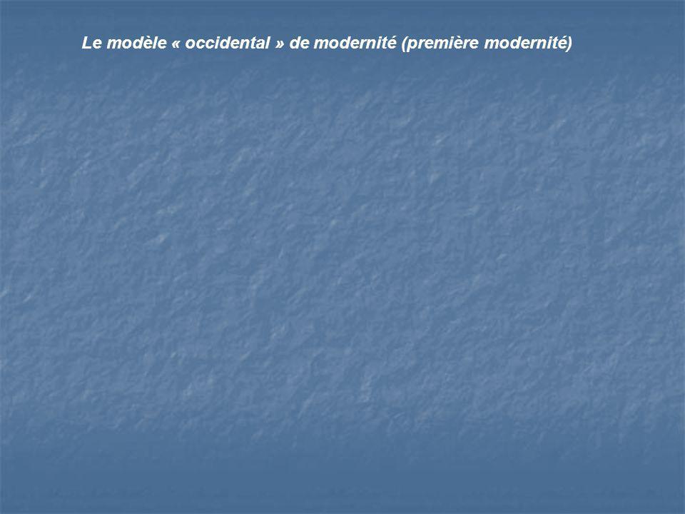 Le modèle « occidental » de modernité (première modernité)