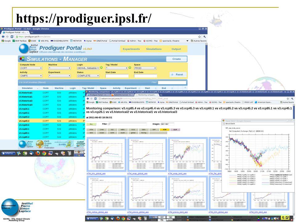 - Rencontres Scientifiques France Grilles 2011 - 10 https://prodiguer.ipsl.fr/