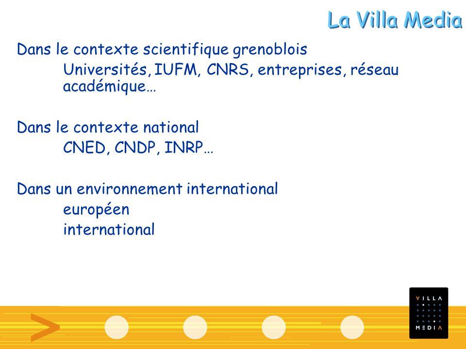 Dans le contexte scientifique grenoblois Universités, IUFM, CNRS, entreprises, réseau académique… Dans le contexte national CNED, CNDP, INRP… Dans un