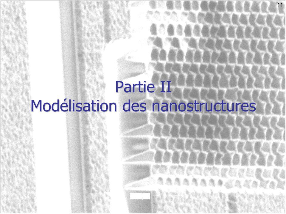 11 Partie II Modélisation des nanostructures