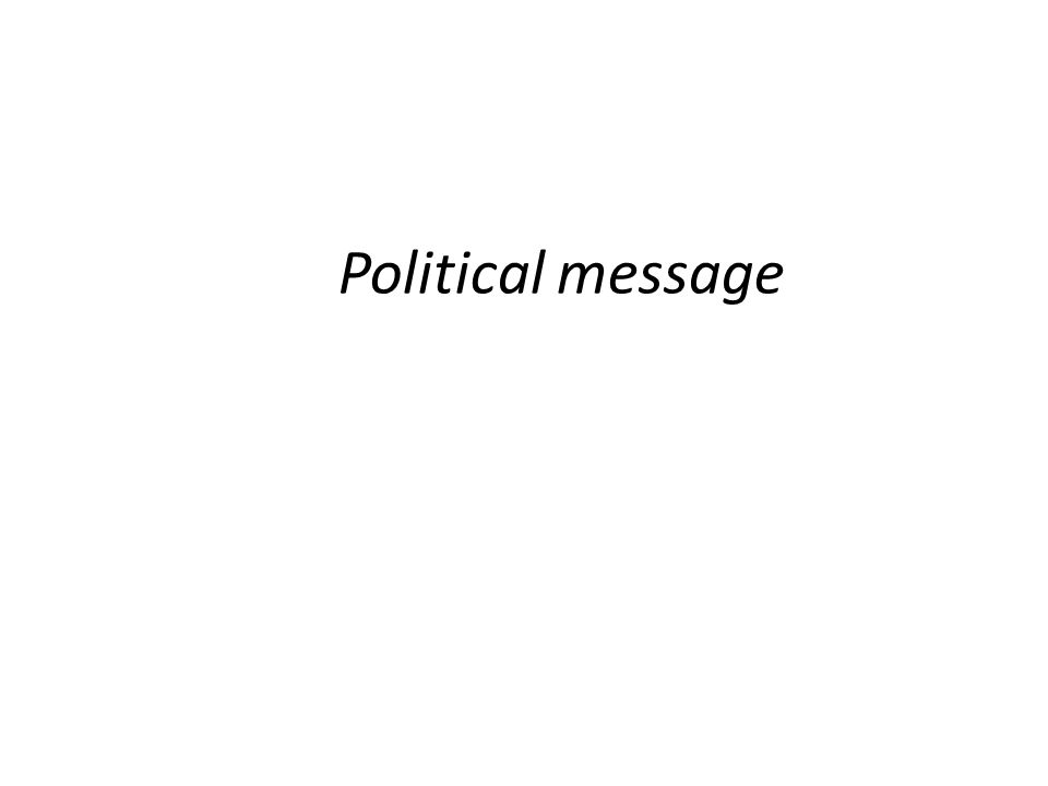 Political message