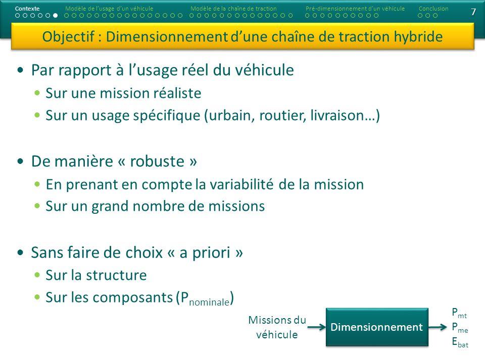 7 7 Par rapport à lusage réel du véhicule Sur une mission réaliste Sur un usage spécifique (urbain, routier, livraison…) De manière « robuste » En pre