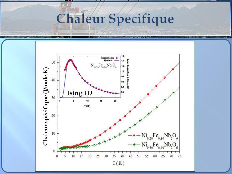 Ising 1D Chaleur spécifique (J/mole.K)
