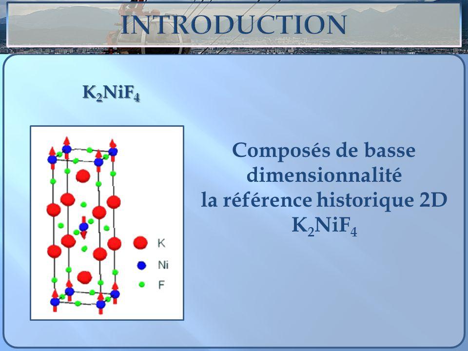 K 2 NiF 4 Composés de basse dimensionnalité la référence historique 2D K 2 NiF 4
