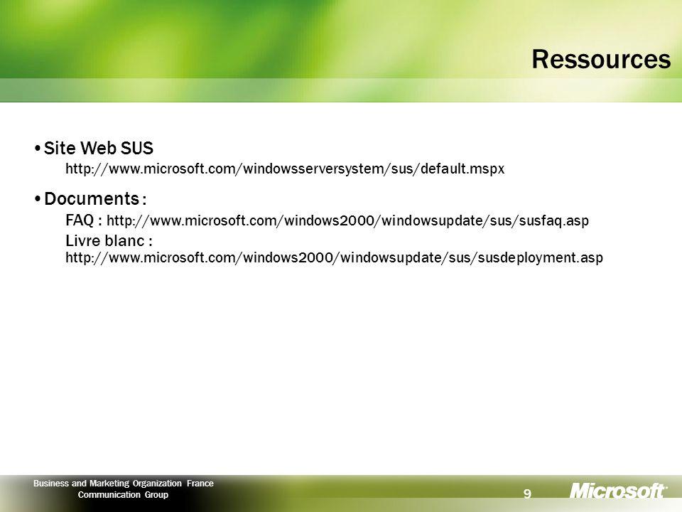 10 Business and Marketing Organization France Communication Group © 2003 Microsoft Corporation.