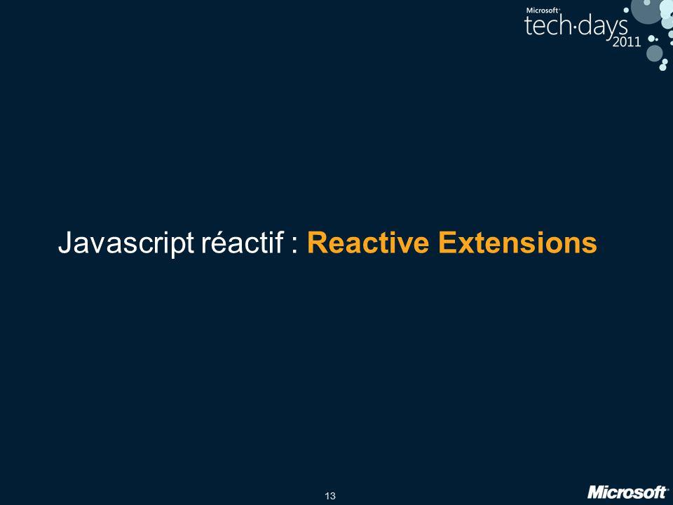13 Javascript réactif : Reactive Extensions