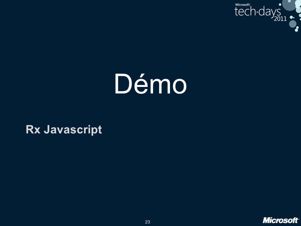 23 Démo Rx Javascript