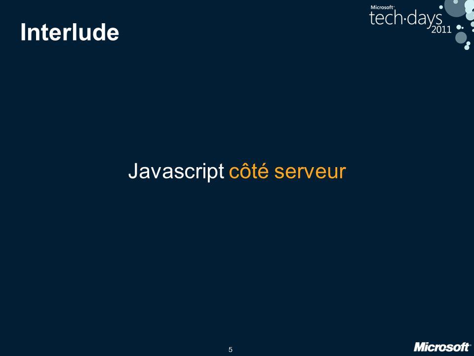 5 Interlude Javascript côté serveur