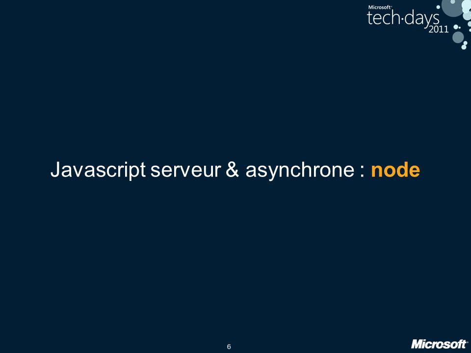 6 Javascript serveur & asynchrone : node