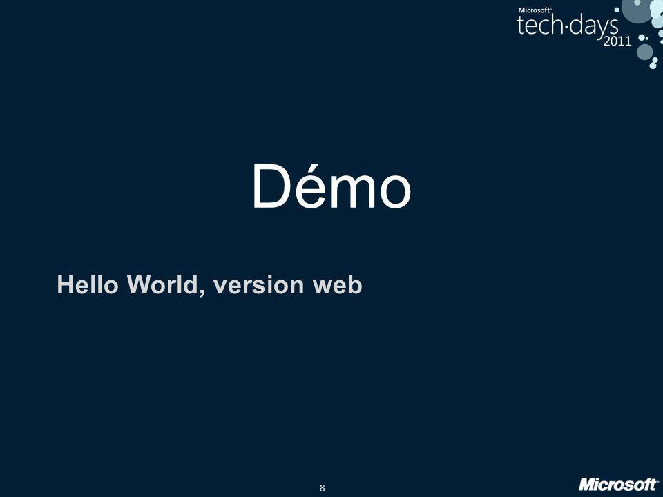 8 Démo Hello World, version web