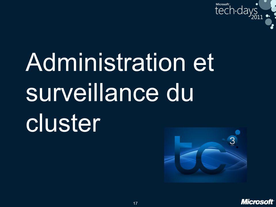 17 Administration et surveillance du cluster