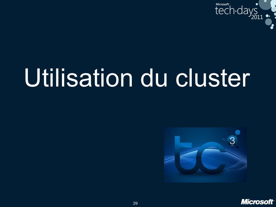 29 Utilisation du cluster