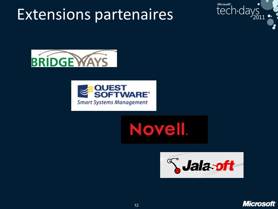 12 Extensions partenaires