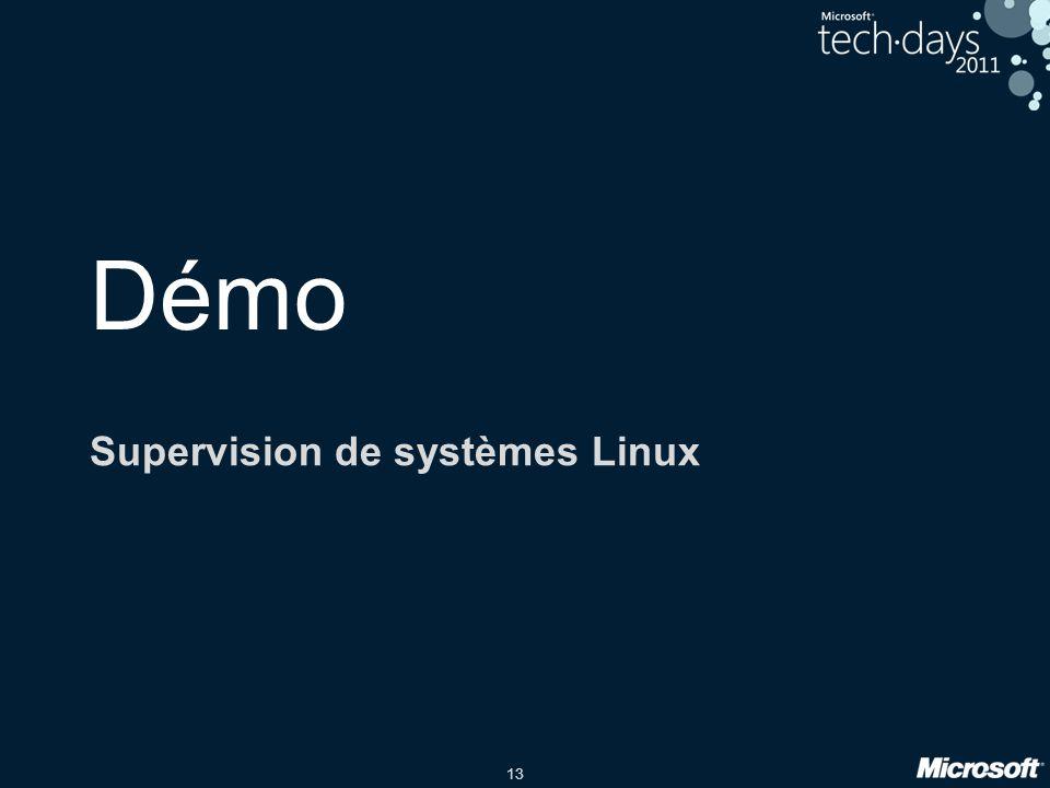 13 Démo Supervision de systèmes Linux