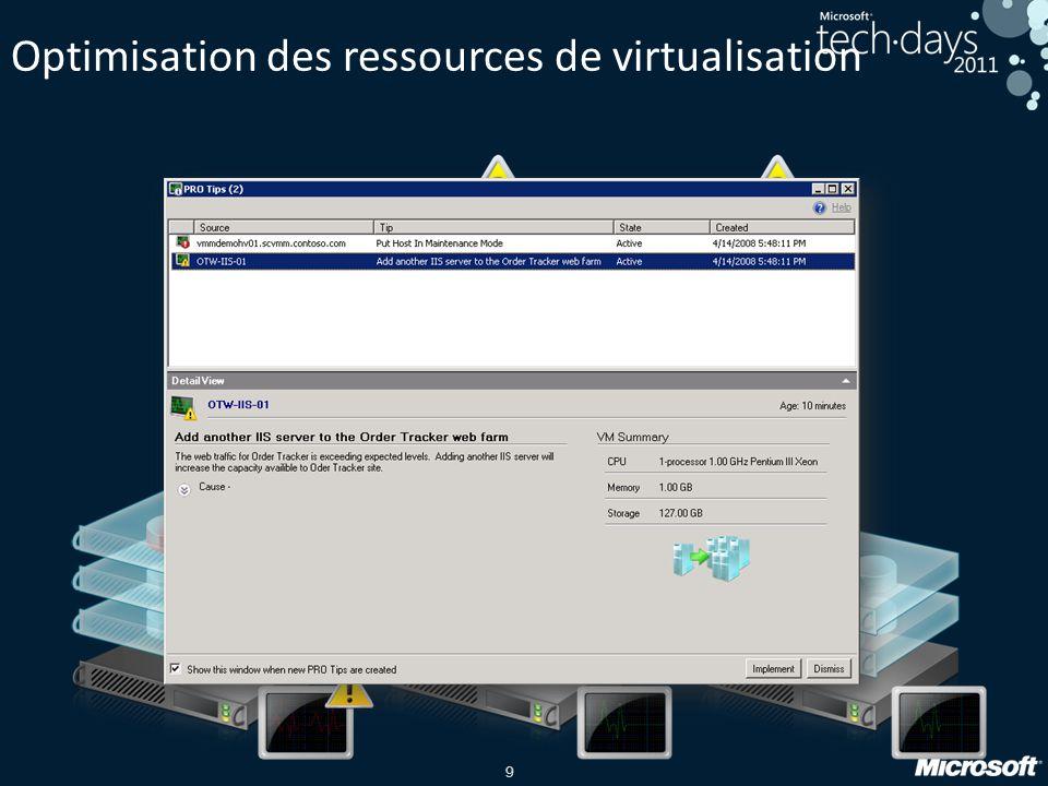 9 Optimisation des ressources de virtualisation