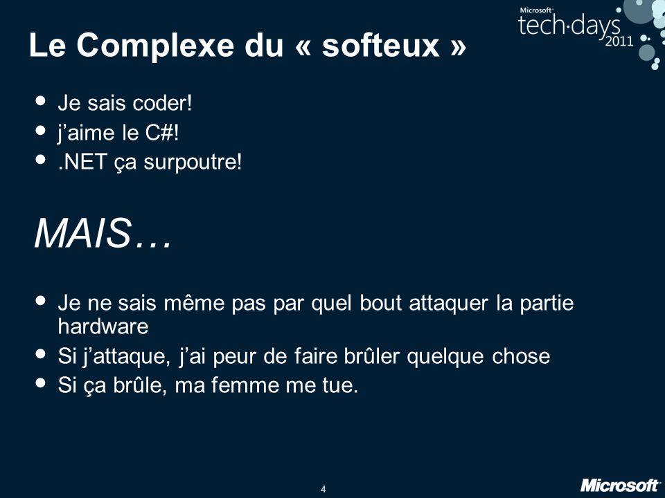 4 Le Complexe du « softeux » Je sais coder.jaime le C#!.NET ça surpoutre.