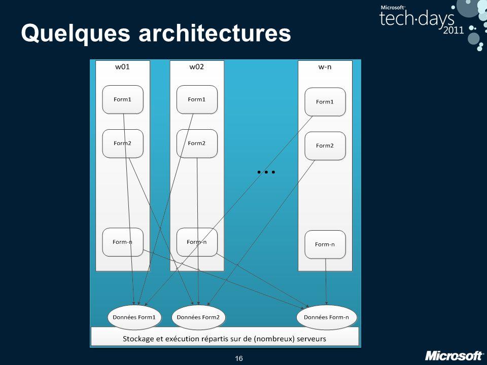 16 Quelques architectures