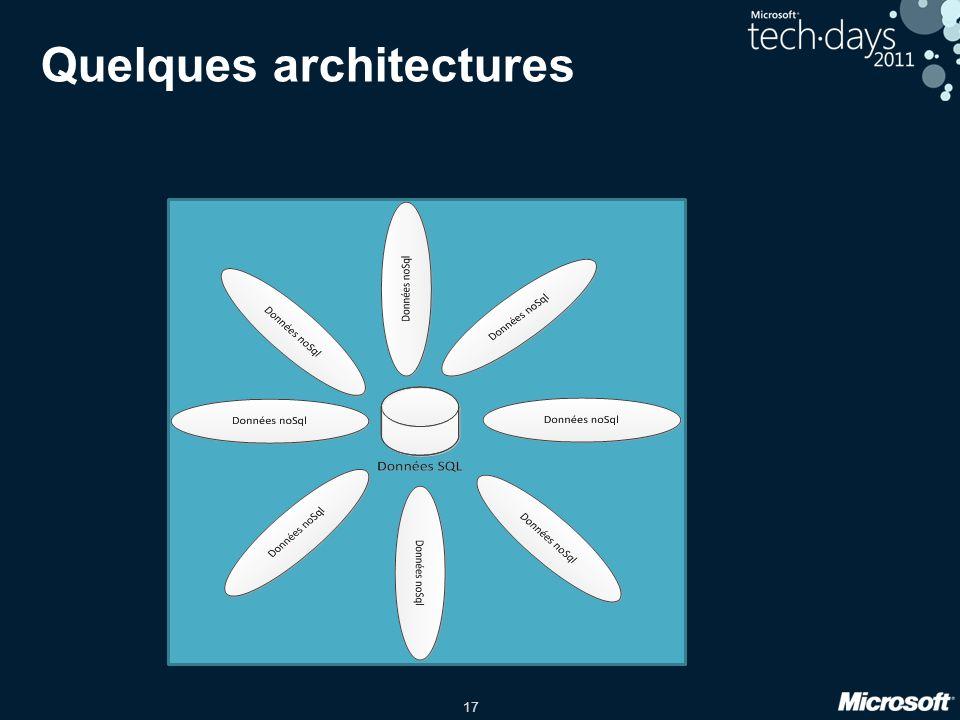 17 Quelques architectures