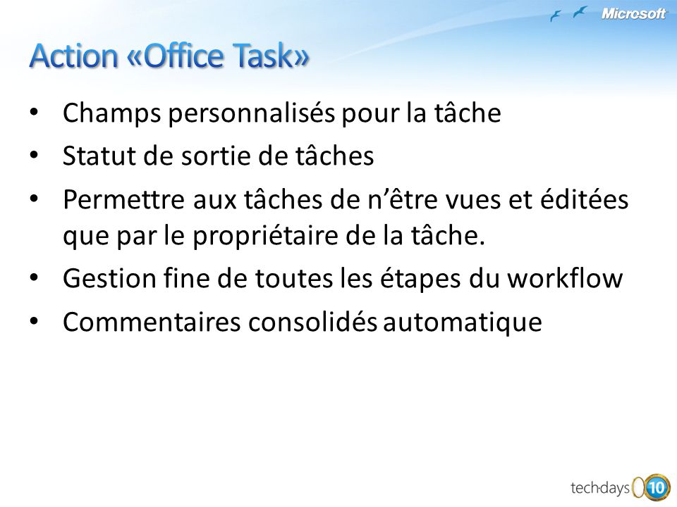 Champs personnalisés pour la tâche Statut de sortie de tâches Permettre aux tâches de nêtre vues et éditées que par le propriétaire de la tâche.