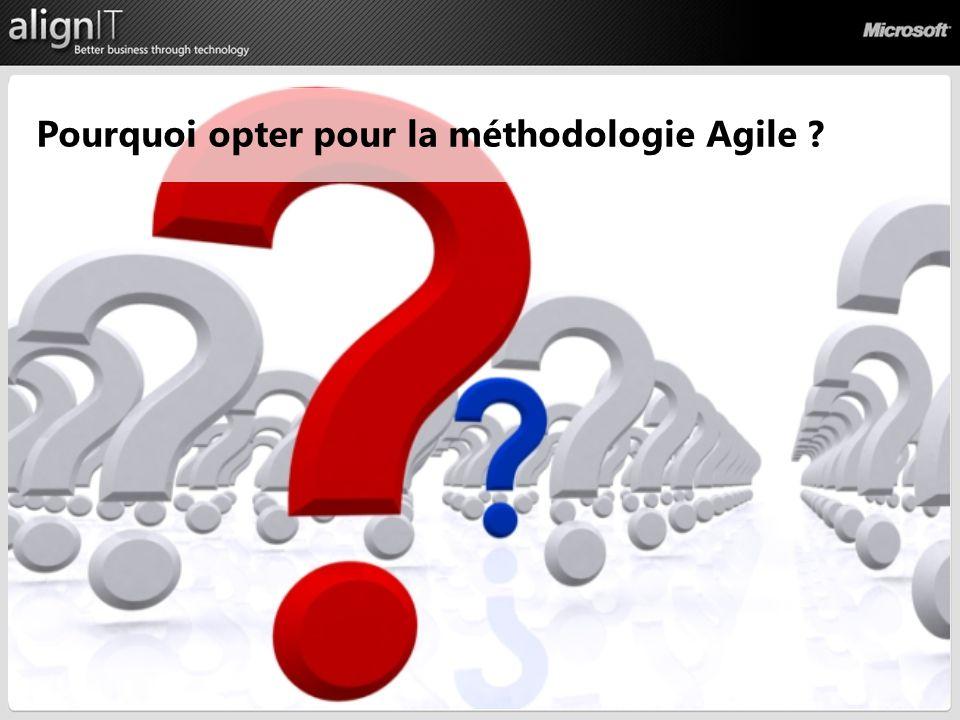 Processus Pourquoi opter pour la méthodologie Agile