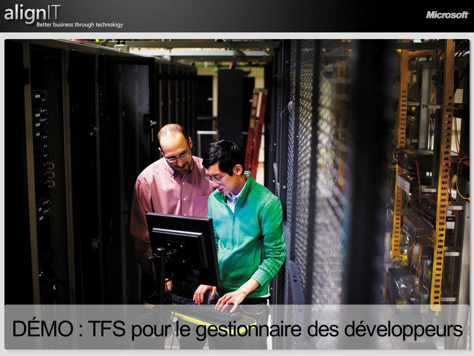 DÉMO : TFS pour le gestionnaire des développeurs