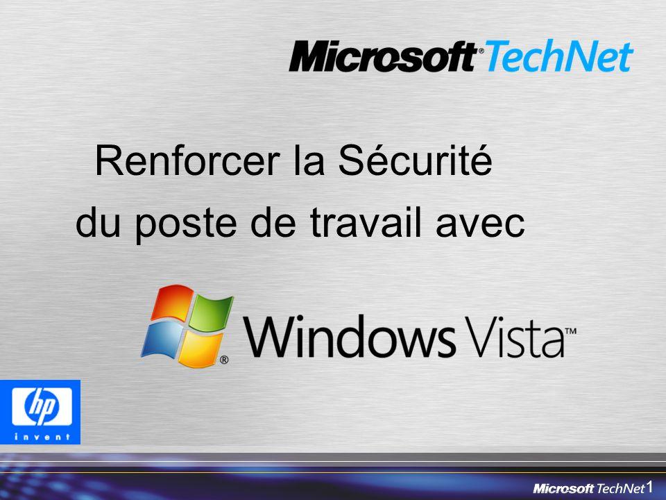 12 Agenda Introduction générale Windows Vista Sécurité et Windows Vista En détail –Résilience du système –Fonctions anti-malware –User Account Control & niveaux dintégrité –Fonctions réseaux –Internet Explorer 7.0 –Protection des informations –Cryptographie Synthèse Questions & Réponses