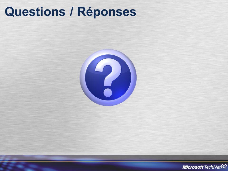 82 Questions / Réponses