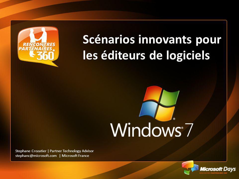 Scénarios innovants pour les éditeurs de logiciels Stephane Crozatier | Partner Technology Advisor stephanc@microsoft.com | Microsoft France