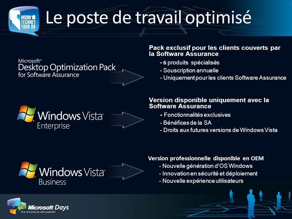 Le poste de travail optimisé 3 Version professionnelle disponible en OEM - Nouvelle génération dOS Windows - Innovation en sécurité et déploiement - N
