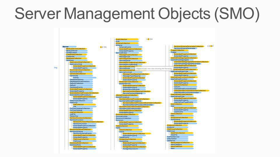 Server Management Objects (SMO)