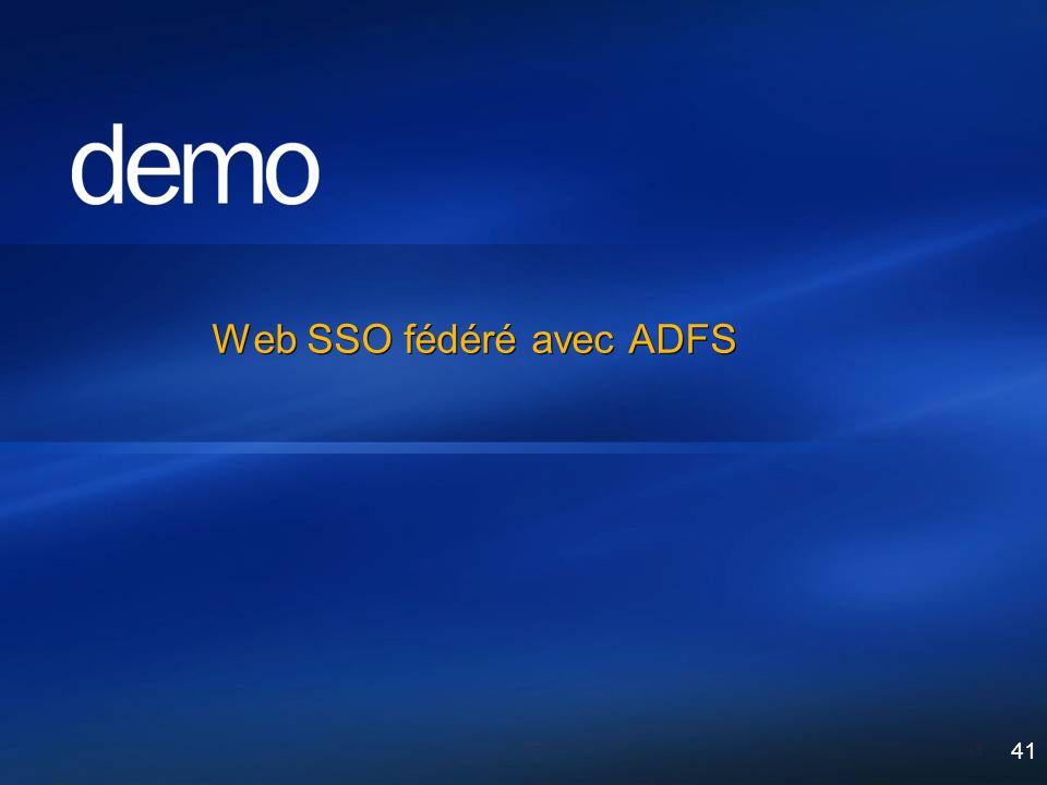 41 Web SSO fédéré avec ADFS 41