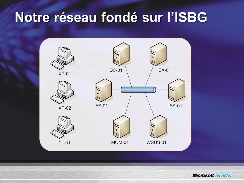 Notre réseau fondé sur lISBG