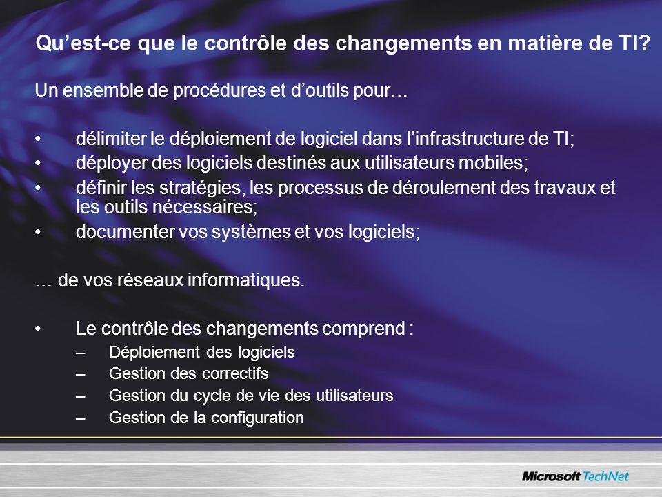 Quest-ce que le contrôle des changements en matière de TI.