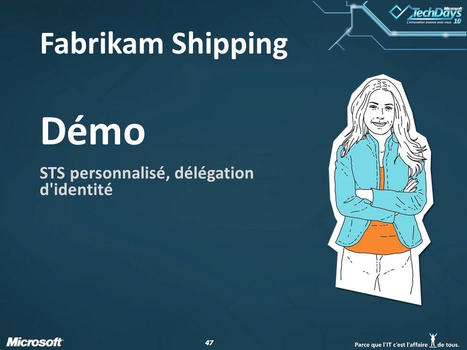 47 Démo STS personnalisé, délégation d'identité Fabrikam Shipping