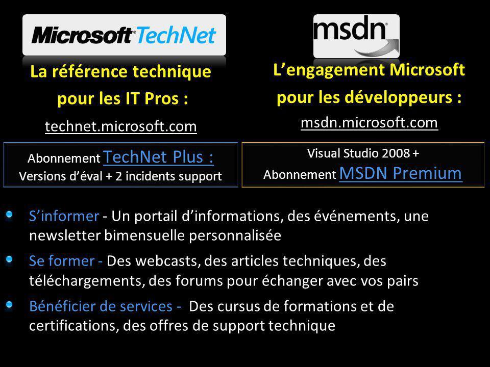 Ressources Le point dentrée: http://www.microsoft.com/enterprisesearch/ http://www.microsoft.com/enterprisesearch/ Le portail de formation partenaire sur la recherche en entreprise : https://www.quickstartmicrosoftsearch.com https://www.quickstartmicrosoftsearch.com La rubrique dédiée Technet: http://www.microsoft.com/enterprisesearch/techresources/itpros.aspx http://www.microsoft.com/enterprisesearch/techresources/itpros.aspx La rubrique dédiée MSDN : http://www.microsoft.com/enterprisesearch/techresources/developers.as px http://www.microsoft.com/enterprisesearch/techresources/developers.as px Fast Search: http://www.fastsearch.comhttp://www.fastsearch.com Communautés: http://www.codeplex.com/Project/ProjectDirectory.aspx TagName=Sharep oint http://blogs.msdn.com/sharepoint/ http://www.codeplex.com/Project/ProjectDirectory.aspx TagName=Sharep oint http://blogs.msdn.com/sharepoint/